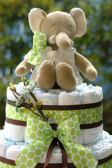 Mr. Elephant Baby Boy Diaper Cake