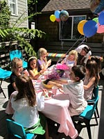 Theme birthday party at Ark Row Center in Tiburon