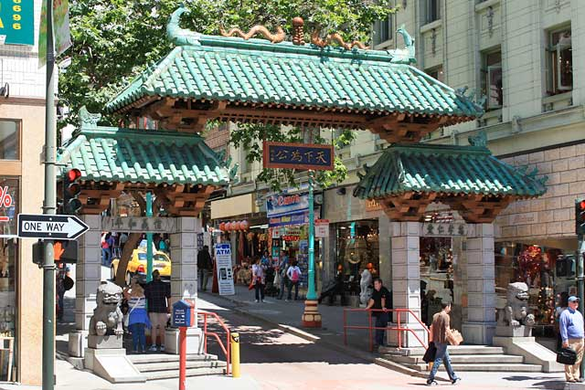 Dragon Gate At The Entrance To San Francisco Chinatown Grant Avenue And Bush Street