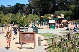 Koret Children's Quarter playground in Golden Gate Park