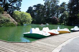 Pedal boats at Stow Lake in Golden Gate Park