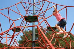 Climbing net structure at Hal Brown Park