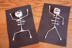 halloween arts and crafts ideas easy easy craft project spooky skeletons marin mommies 7751
