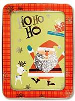 Galison Santa Holiday Card Tin