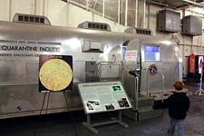Apollo quarantine trailer on USS Hornet