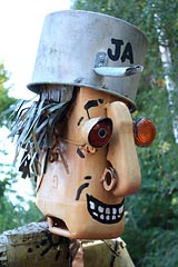 Johnny Appleseed sculpture at Gabriel Farm