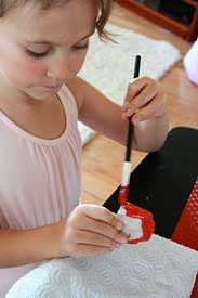 making the ladybug craft