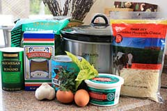 Slow cooker lasanga ingredients