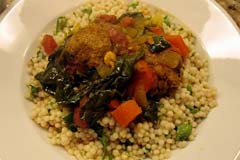 Moroccan meatballs with couscous