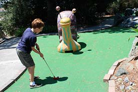 Miniature golf course at McInnis Park