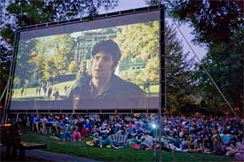 movie night in old mill park, mill valley