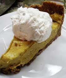 Pumpkin Chiffon Pie with Graham Cracker Crust