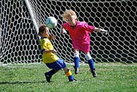 An active goalie will get your some great action. Know whose soccer skills are camera friendly