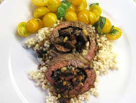 Flank steak pinwheels