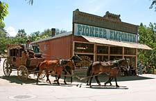 Pioneer Emporium and stagecoach in Columbia, California
