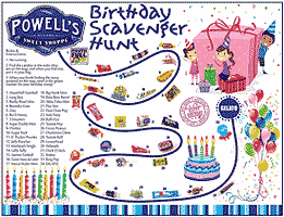 Powell's Sweet Shoppe Birthday Scavenger Hunt map