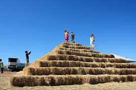 Spring Hill Farm hay pyramid
