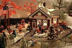 Linda's Snow Village in Marinwood