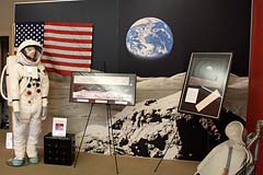 Moon landing stuff at the Space Station in Novato