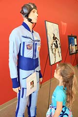 Russian space work suit at Space Station in Novato