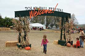 Tolay Lake Fall Festival entrance