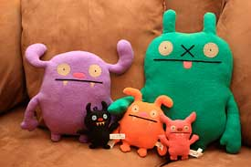 Our current roster of Ugly Dolls