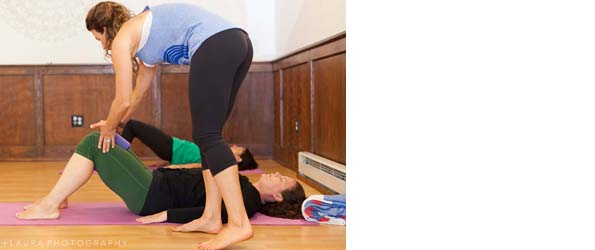 Pomegranate postpartum yoga