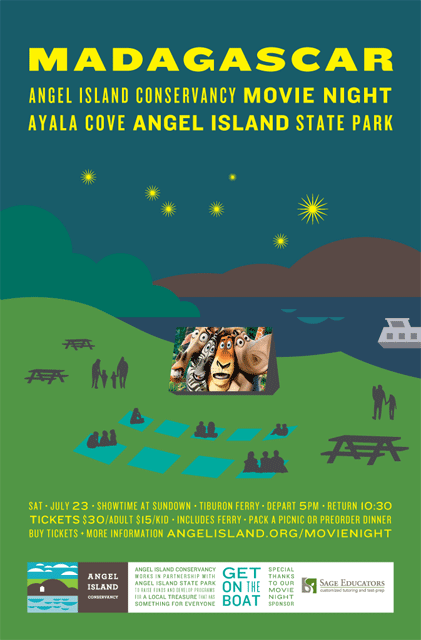 Angel Island Movie Night Poster