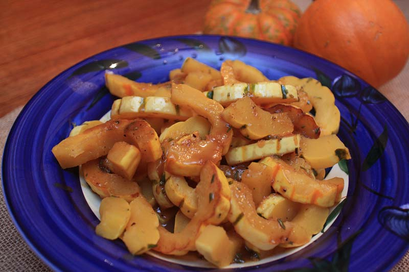 Apple cider braised squash
