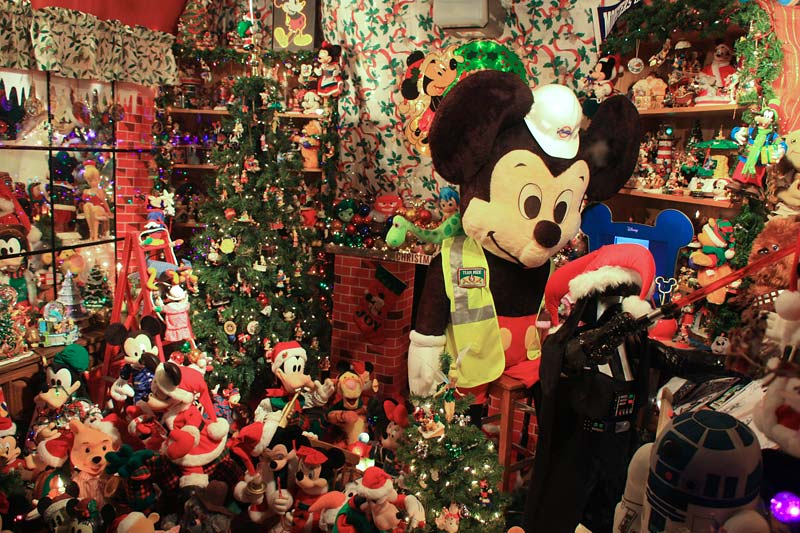 The Mickey Mouse Christmas House