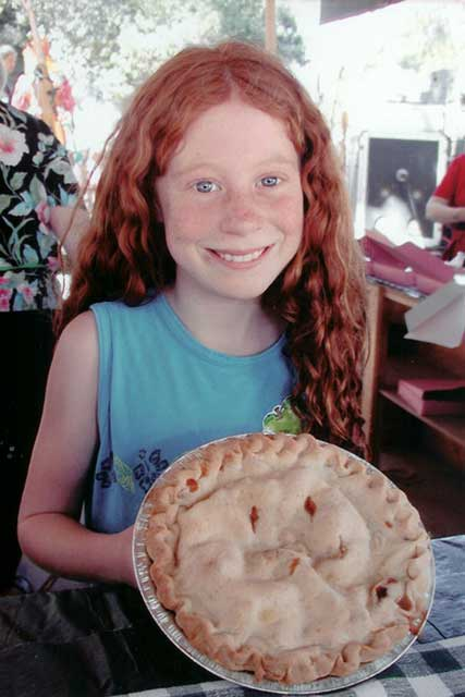 Girl with pie Gravenstein Apple Fair