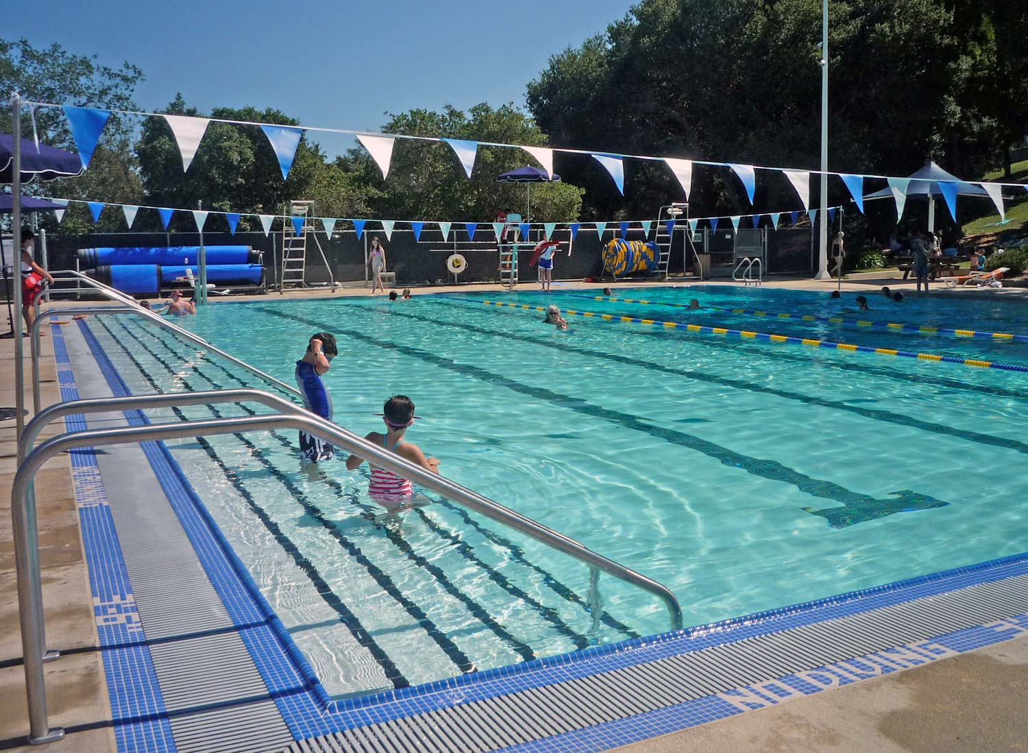 Splash slide and swim at the hamilton community pool in - Hamilton swimming pool san francisco ...