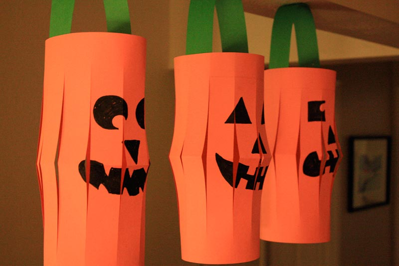 jack o lantern craft craft project paper o lanterns marin mommies 4764