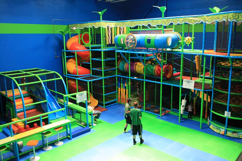 Jump And Play At Rebounderz Indoor Trampoline Arena In