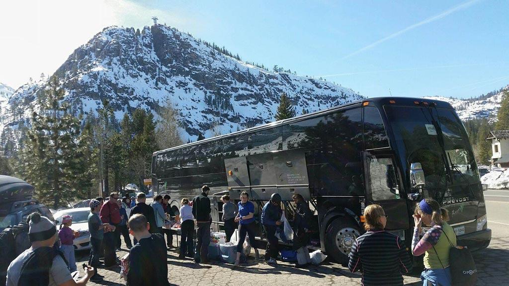 43beea1486d4f All Aboard Sports Basement s Tahoe Ski Bus!