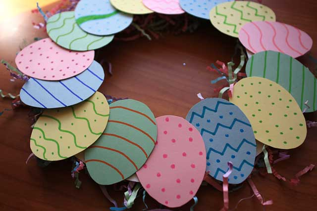 Create A Cute And Colorful Easter Egg Wreath Marin Mommies
