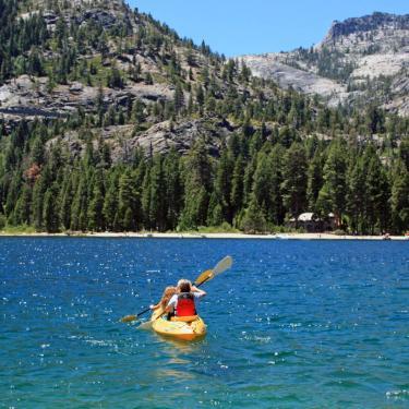 Kayaking in Lake Tahoe at Emerald Bay