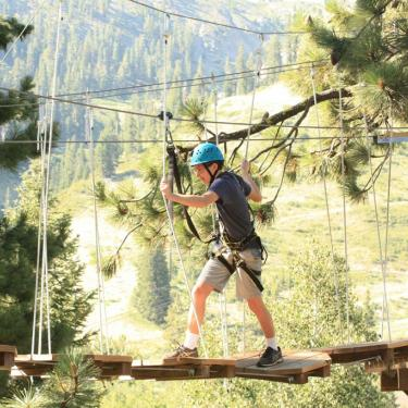 Treetop adventures ropes course Tahoe