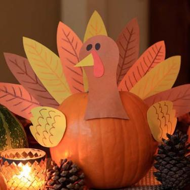 Pumpkin Turkey Centerpiece