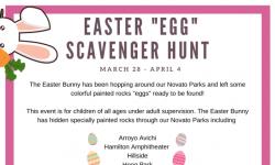 "Easter ""Egg"" Scavenger Hunt flyer"