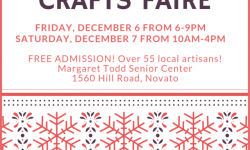 Holiday Crafts Faire–Margaret Todd Senior Center Novato