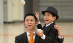 Dan Chan the Magic Man and his son James