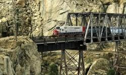 Southern Pacific Train Crossing Canyon
