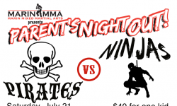 Marin MMA Parent's Night Out Kids Event