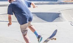 kid skateboarding