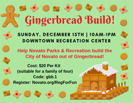 Gingerbread Build! Novato