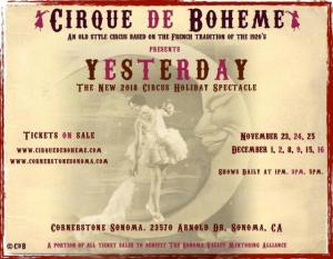 Cirque de Boheme Yesterday