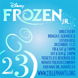 23 Elephants Theatre Company presents: Disney Frozen JR., Novato Theater Company