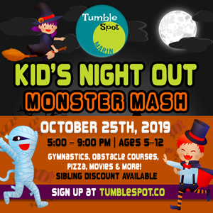 Kid's Night Out at TumbleSpot Marin