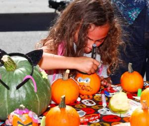 Pumpkin decorating at Civic Center